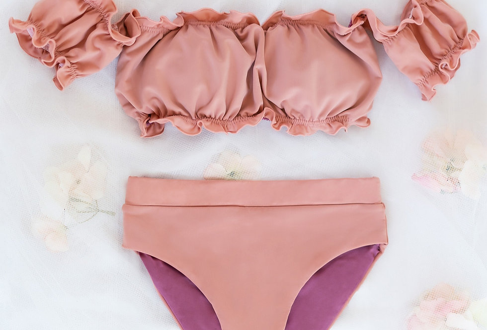 Sassy Swimsuit Set | Sweet Peach