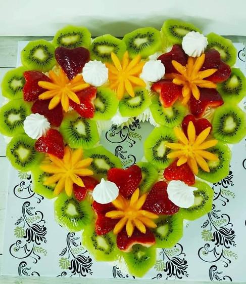 עוגת פירות לב