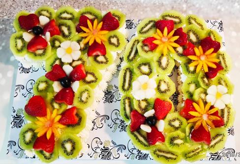 עוגת המספרים ליום הולדת 70