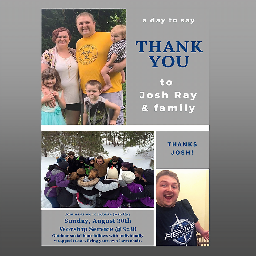 """A Day to Say """"Thank You"""" to Josh Ray"""