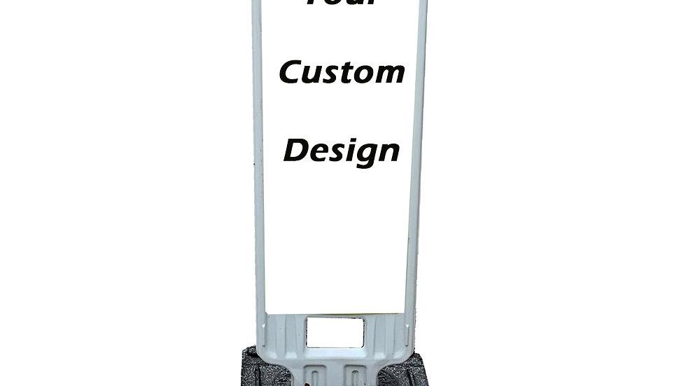 "Custom Design Sign 36"" with LED Flashing Lights"