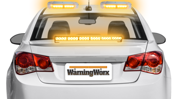 LED Amber Warning Light Combo Package with Mini Beacons (Level 1)