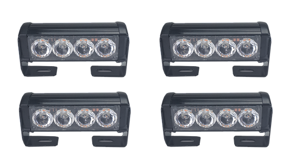 LED Strobe Quad Light Head Kit