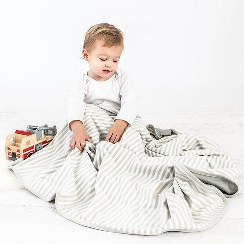 Manta para niños pequeños de lana merino, 1,3 mt x 1mt Gris