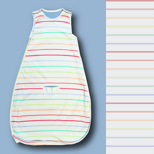 Saco Balún 0m-24m líneas arcoíris
