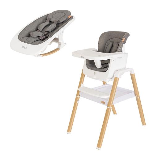 Set NOVA - silla+mecedora - BLANCO