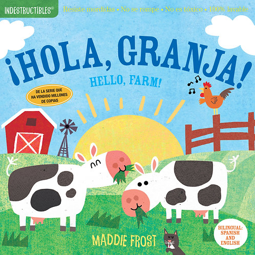 Libro ¡Hola granja! Hello Farm - Indestructibles