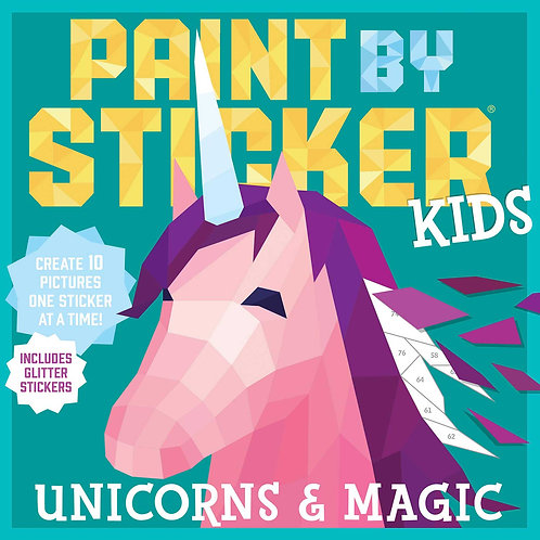 Unicornios y magia- Libro de pinta con stickers