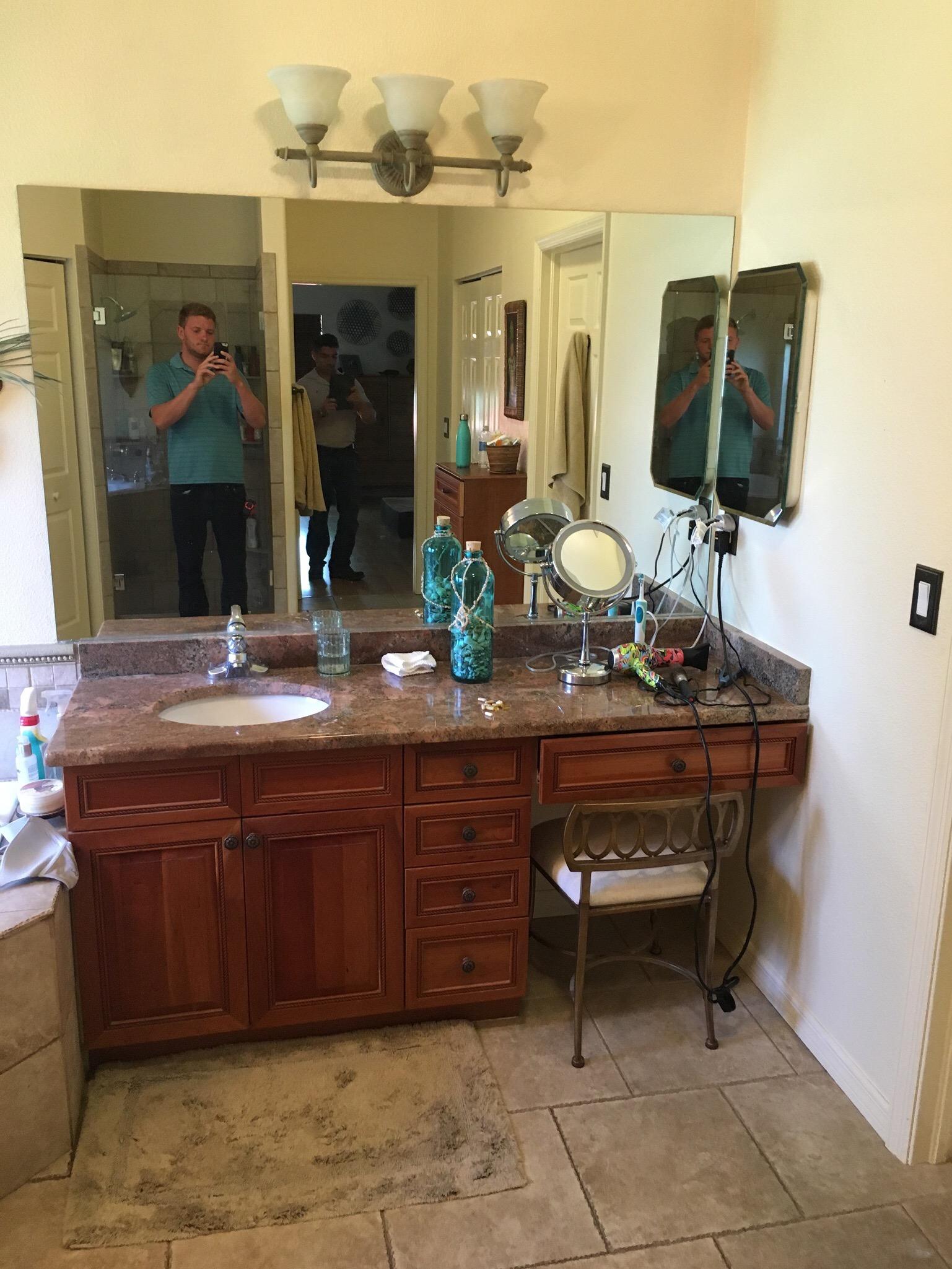master vanity before