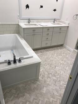 tub installed
