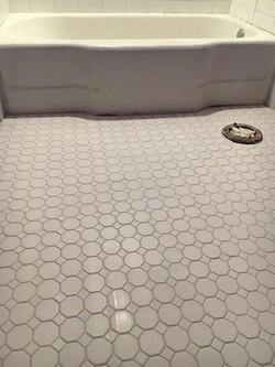 New floor tile installed