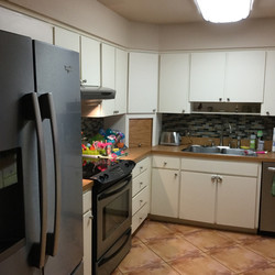 outdated tile/cabinets