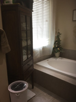 Tub before w/ cabinet