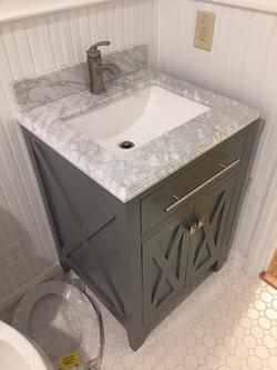 New vanity installed