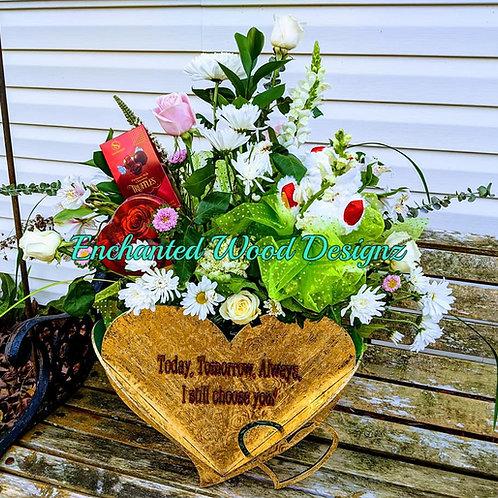 Virtual Paint Party Feb 2020 - Heart Basket - large