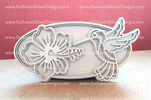 Layered Hummingbird w/Flower