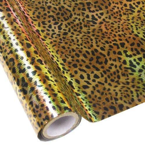 Foil -   Leopard - Hologram Gold Foil