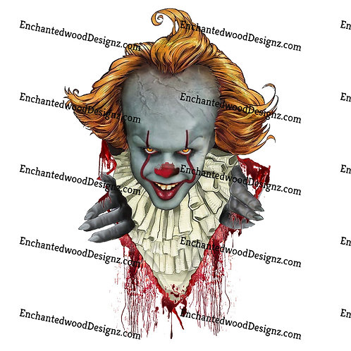 Clown dripping blood- IT