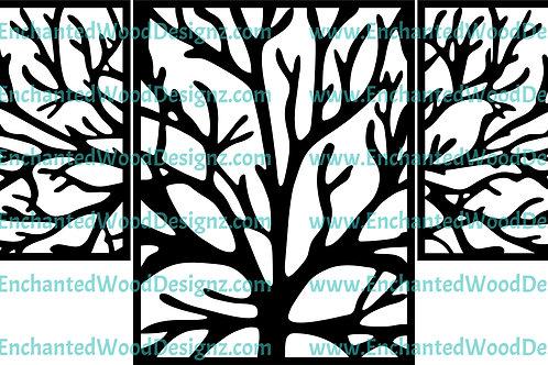 3 piece Tree Wall Art/Mixed Media Piece