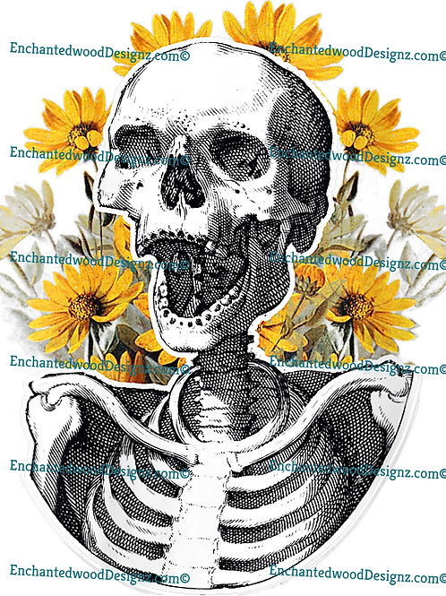Sunflower Skull/Skullyton