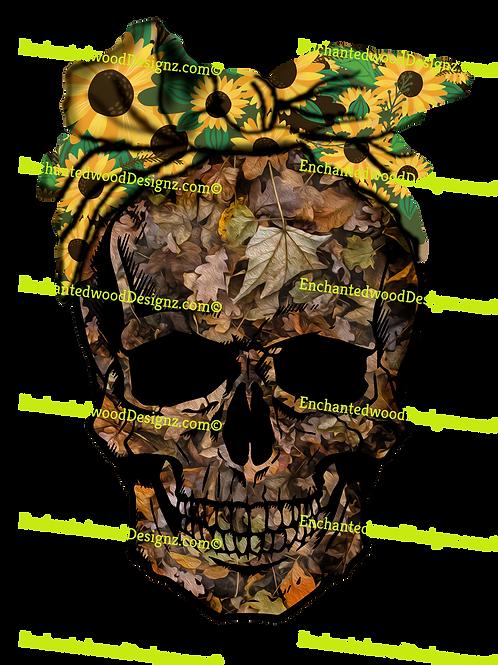 Camo Skull Sunflower