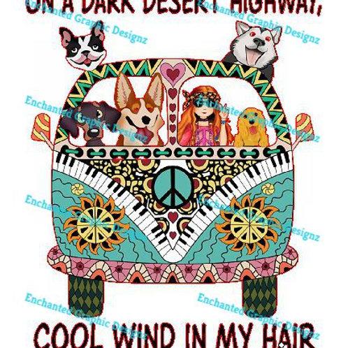 Hippie - Song - On a Dark Desert Hwy.