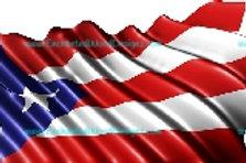 Puerto Rican Flag Waving