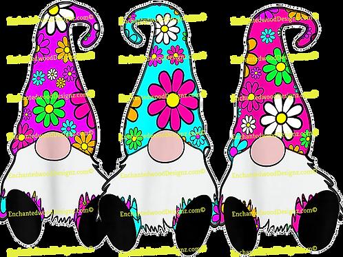3 Hippie Gnomes Daisy hats