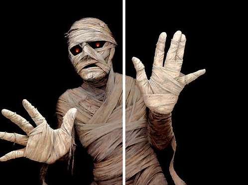 """Menacing Mummy with Two 34.5""""x60"""" 2.5ml Back lit Plastic Posters"""