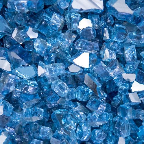 1/4 inch - Sky Blue Glass- Reflective