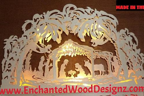 """Nativity German Arch Lamp 2 """"Schwibbogen"""""""