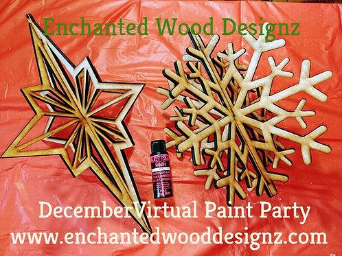 December Virtual Paint Party - Large Ornaments