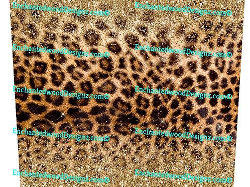 Cheetah Glitter  20 oz Skinny Wrap