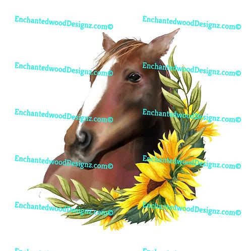 Sunflower horse