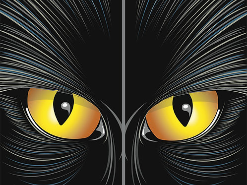 """Catrageous the Beast with Two 34.5""""x60"""" 2.5ml Back lit Plastic Posters"""