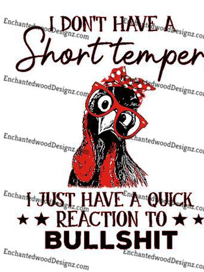 Don't have a short temper, Reaction to BS
