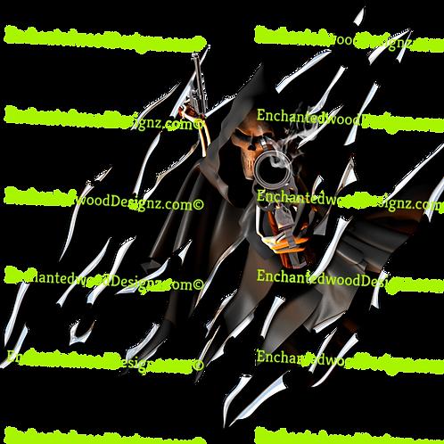 Reaper Revolver Rip Skull