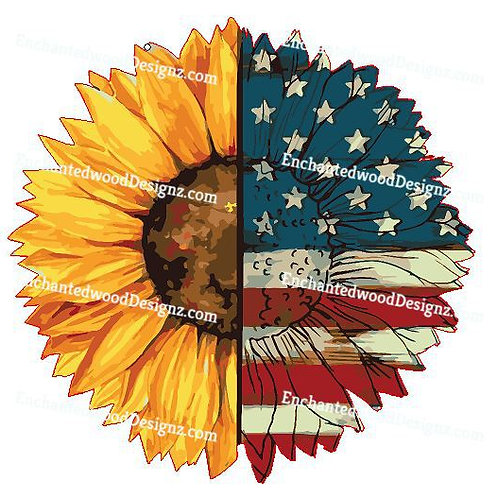 American Flag Sunflower - Love
