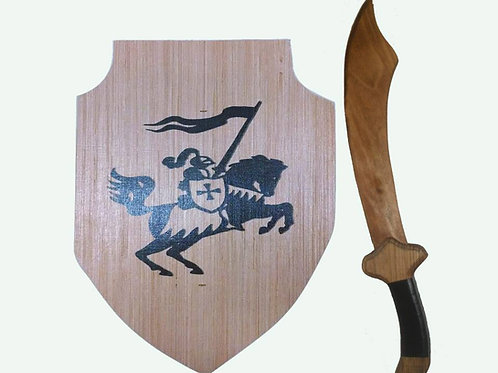 3 choices - Kids Wooden Shield & Sword