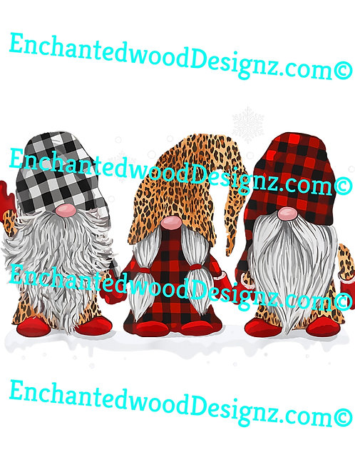 3 Gnomes Flannel & Leopard-Holiday ready
