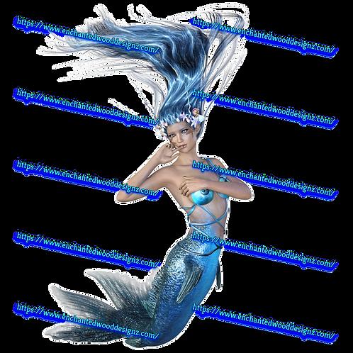 Mermaid Blue - 5 choices Printed on Clear