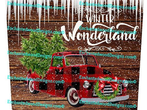 Winter Wonderland Christmas 20 oz Skinny Wrap