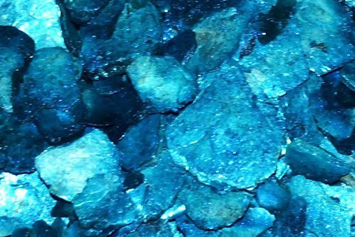 "Azure Sea Moon Rocks-""Painted""-Natural Mica"