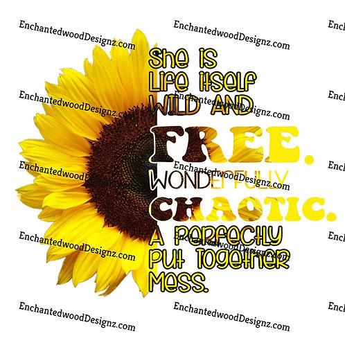 Wonderfully Chaotic Sunflower