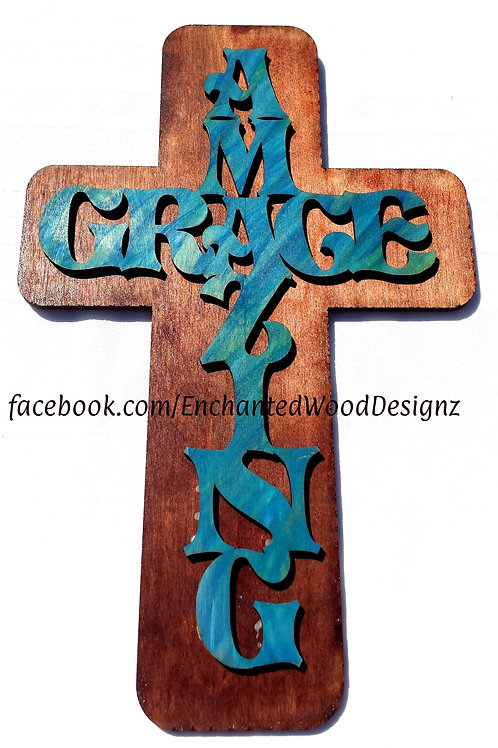 Wooden Cross 2 Layers Bare Wood for you to DIY your way