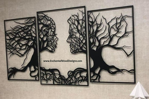 Man & Woman Tree Wall art