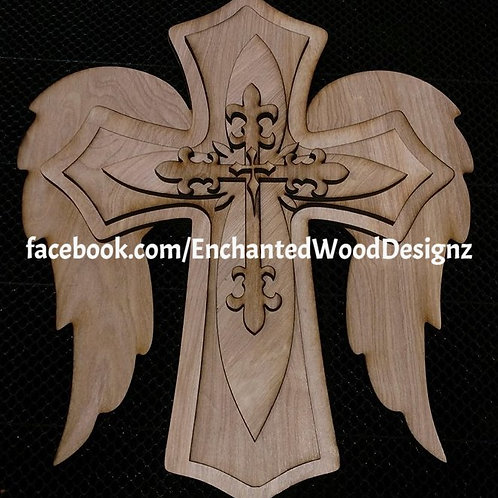 5 layer wooded cross -DIY your way