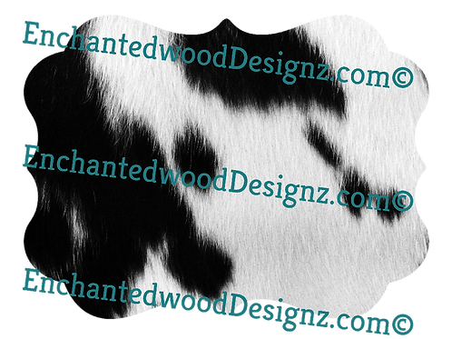 Deluxe Animal Skins/Fur Cow cut out
