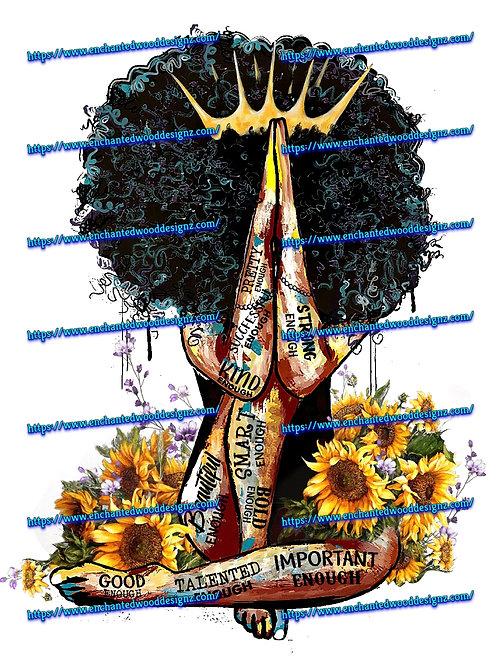 African American Positive Vibe Queen