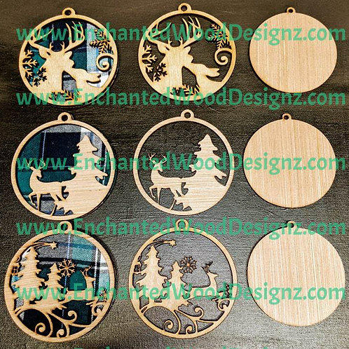Christmas Ornaments Deer collection
